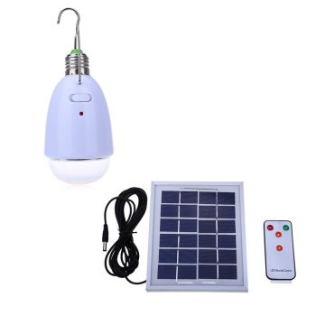4W LED solar powered light bulb for camping