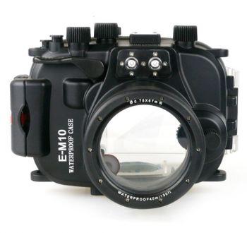 Meikon 60M Olympus OM-D E-M10 Underwater Housing Waterproof Case 14-42