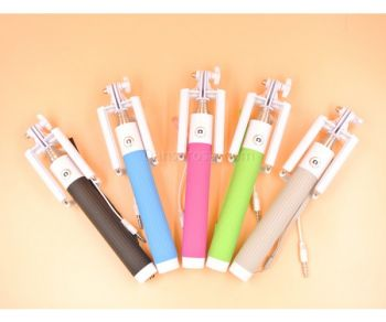 Wholesale foldable Extendable Selfie Stick Metal Monopod For Iphone and Note