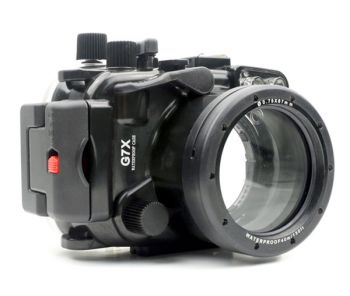 40m Meikon Canon G7X Underwater Housing Waterproof Case 8.8-36.8