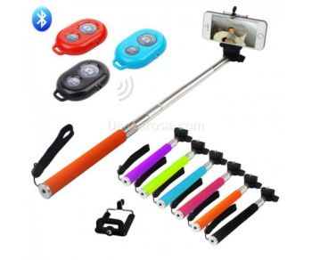 Bluetooth Selfie Stick Extendable Monopad for Iphone and android