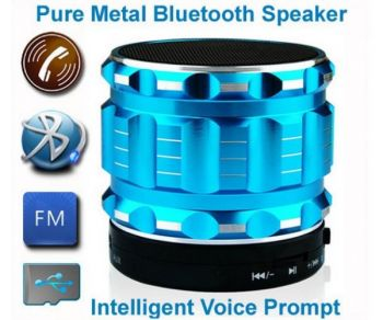 S28 Metal Portable  Mini Bluetooth Speakers Hands Free With FM Radio SD Card