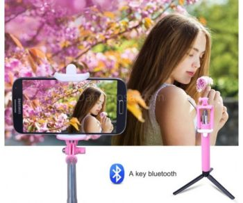 Foldable Zoom Function Bluetooth Selfie Stick Extendable Monopod For Iphone Android