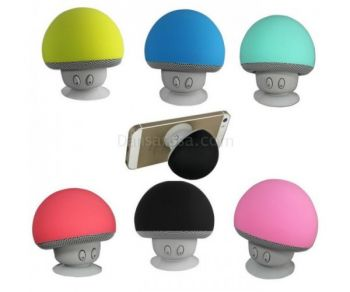 Mushroom Mini Bluetooth Speaker Music Player With Mic Suction Cup