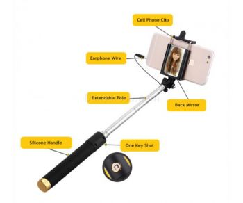 Balck Magic Mirror Selfie Stick For Iphone Android Cellphone
