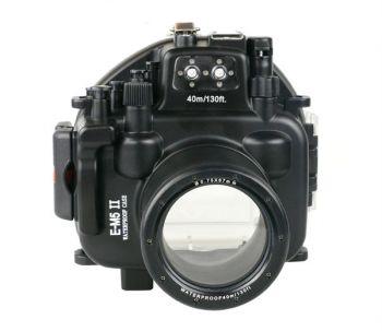 40m Meikon Olympus OMD EM5 Mark II Underwater Housing Waterproof Case 12-50