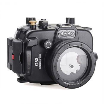 40m Meikon Canon G5X Underwater Housing Waterproof Case 8.8-36.8