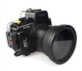 60m Meikon Canon 80D Underwater Housing Waterproof Case 18-135mm lens