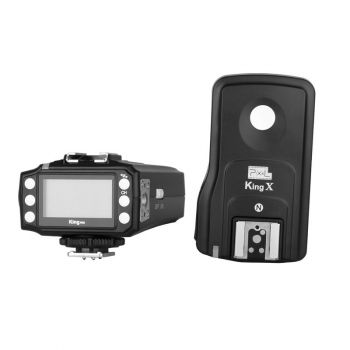 Pixel King Pro Wireless E-TTL Flash Trigger Kit with LED Screen For Canon