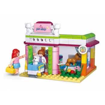 Sluban Building Blocks Kids Toy Riot Police Patrol Car