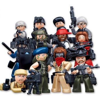 Sluban Building Blocks Kids Toy 12 Models Assorted Army Set Military