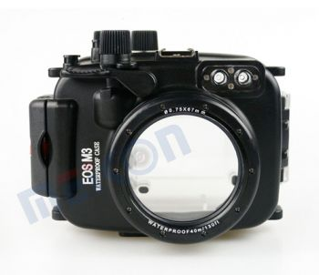 40m Waterproof Case Underwater Housing For Canon M3 18-55/22mm