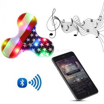 LED Bluetooth Speaker Fidget Spinner Finger Spiner E105