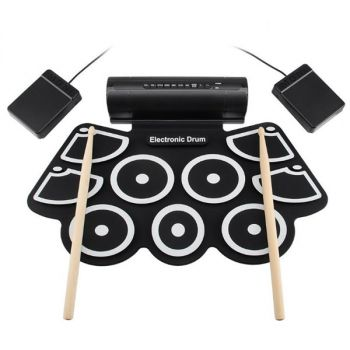 Portable Roll Up Electronic Drum Set Kit Pad USB 7 Silicon Drum