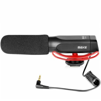 Meike MP1 Interview MIC On-Camera Microphone For Canon Nikon Camera Camcorder