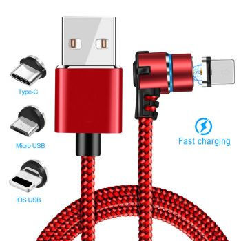 Micro USB Type C IOS LED Lightning Magnetic 5A Fast Charging Cable