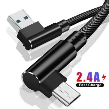 90 Degree LED USB  Micro USB Type C IOS Magnetic Cable