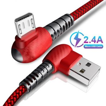 2A Fast Charging Data Wire Cord LED Micro USB Charger Cable