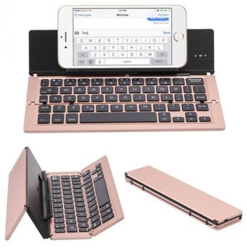 Rechargeable Aluminum Portable Bluetooth Keyboard