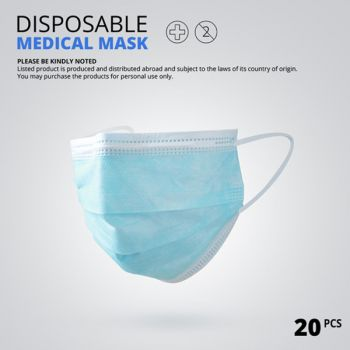 3 Layer Non-woven Dust Mask Thickened Disposable Mouth Mask