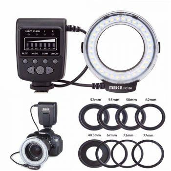 Meike FC-100 Macro Ring Flash Light For Canon Nikon Olympus Panasonic Pentax