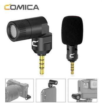 COMICA CVM-VS07 mini microphone mic TRRS plug GoPro camera DSLR