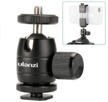 Ulanzi Aluminum Super Mini Ball Head Cold Shoe Adapter