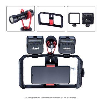 UALNZI smartphone video rig stabilizer phone grip handheld tripod film mount