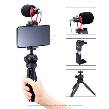 ulanzi cellphone video kit3 mini tripod phone holder microphone live stream