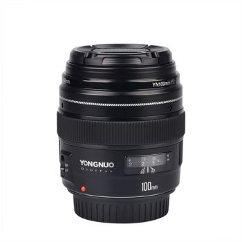 YongNuo 100mm F2 AF/MF Medium Telephoto Fixed Focal Lens for Canon