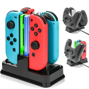 4 Controller Charger Charging Dock Station for nintendo switch joy con