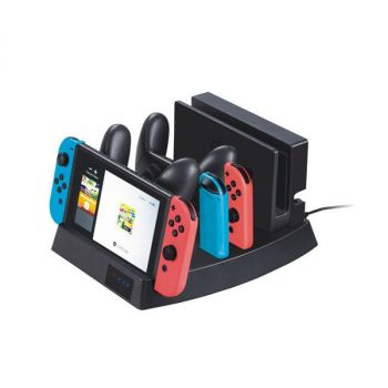 charging dock station stand for nintendo switch console joy con