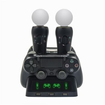 PS4 console vertical stand dual controller charger charging dock
