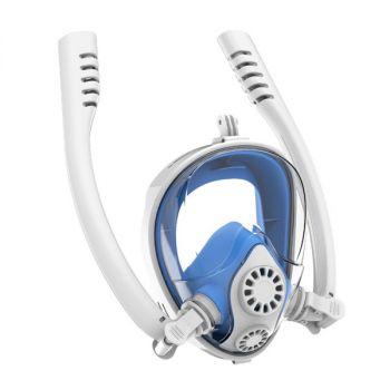 anti frog full face snorkel mask dual breath tube