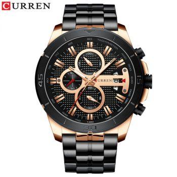 CURREN 8337 Stainless Steel Chronograph Waterproof Men Quartz Watch