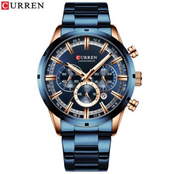 CURREN 8335M stainless steel chronograph sports men quartz watch