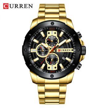CURREN 8336 stainless steel chronograph men quartz watch