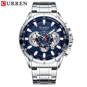CURREN M8363 stainless steel chronograph men waterproof quartz watch