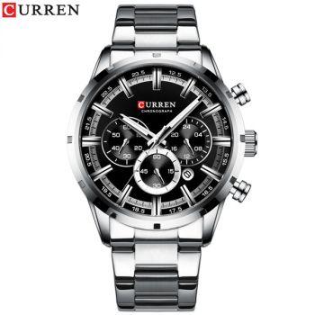 CURREN 8301 stainless steel chronograph mens quartz watch