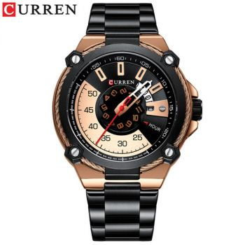 CURREN M8345 stainless steel waterproof mens quartz watch