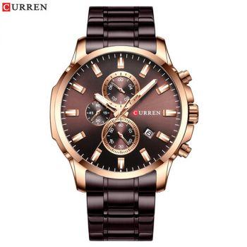 CURREN 8348 stainless steel chronograph mens quartz watch