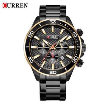 CURREN 8309 stainless steel waterproof chronograph mens quartz watch