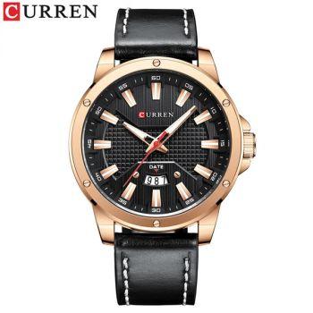 CURREN 8376 waterproof leather mens quartz watch