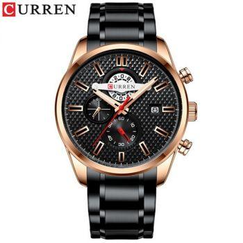 CURREN 8352 stainless steel chronograph mens quartz watch
