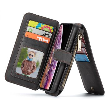 Retro Card Slots Leather Wallet Case For iPhone 12 11 pro max 007