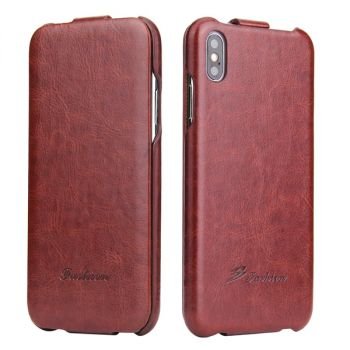 vertical flip leather case cover pouch for iPhone 7 8 X XS Max XR