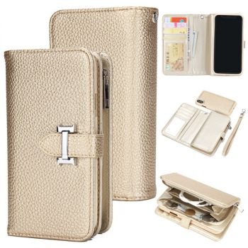 zipper leather wallet case for iPhone 11 pro max 8 7 6 plus C21