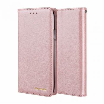silk PU leather magnetic flip wallet case for iPhone 12 11 pro max 8 7 6 plus C22