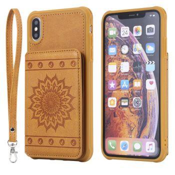 retro flip wallet case for iPhone 12 11 pro max 8 7 6 plus C33
