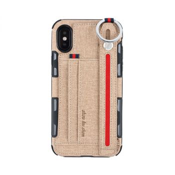 Metal Ring Cloth Wallet Case For iPhone 12 11 pro max mini 8 7 6 plus